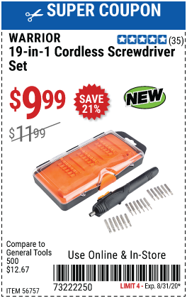 19-in-1 Compact Cordless Screwdriver Set
