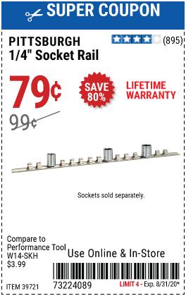 1/4 in. Socket Rail