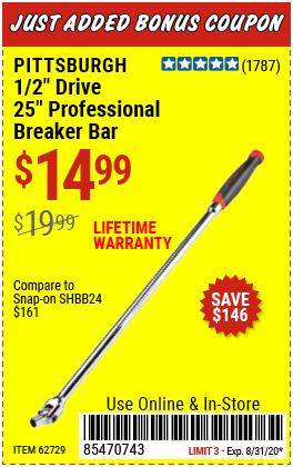 1/2 in. Drive 25 in. Professional Breaker Bar