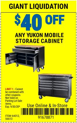 $40 off YC Yukon Mobil Storage Cabinets