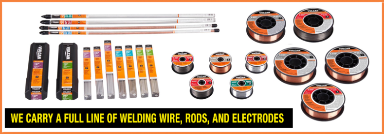 We carry a full line of welding consumables