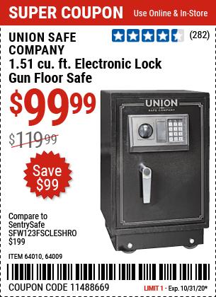 1.51 cu. ft. Electronic Lock Gun Floor Safe