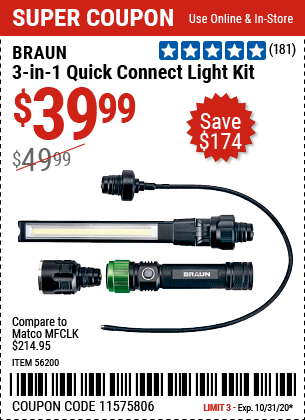 3-in-1 Quick Connect Light Kit