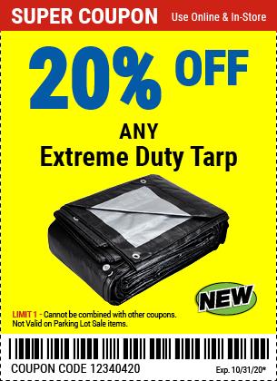 20% off Tarps Extreme Duty (3skus) new