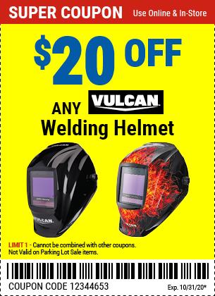 $20 off Any Vulcan Welding Helmet (2 skus)