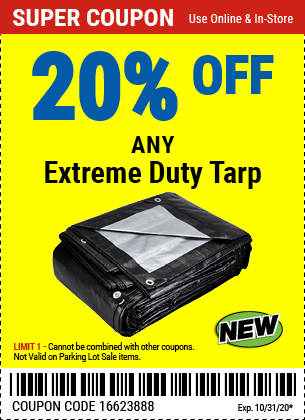 20% off Tarps Extreme Duty (3skus) new