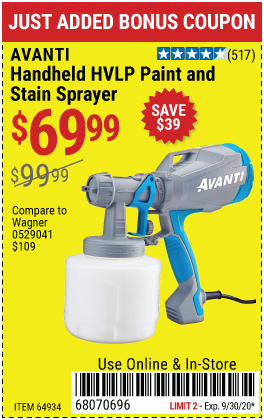 Handheld HVLP Paint & Stain Sprayer