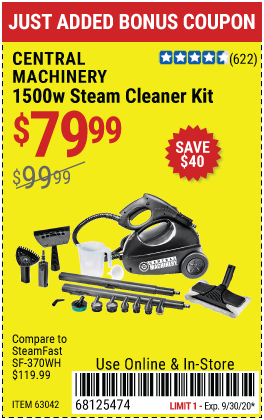 1500 Watt Steam Cleaner Kit