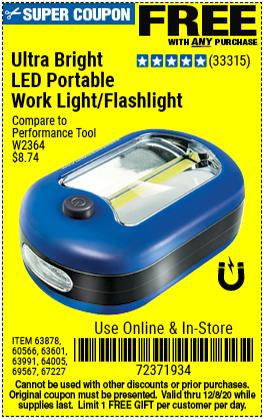 Ultra Bright LED Portable Worklight/Flashlight