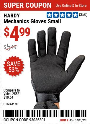 Mechanics Gloves Small
