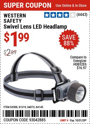 Swivel Lens LED Headlamp