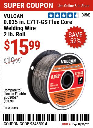 0.035 in. E71T-GS Flux Core Welding Wire, 2.00 lb. Roll