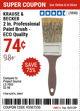 2 in. Professional Paint Brush - ECO Quality