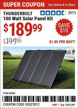 100 Watt Solar Panel Kit