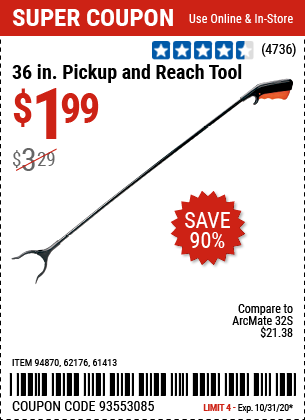 36 in. Pickup and Reach Tool