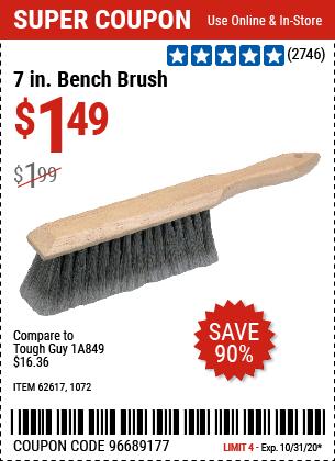7 In. Bench Brush