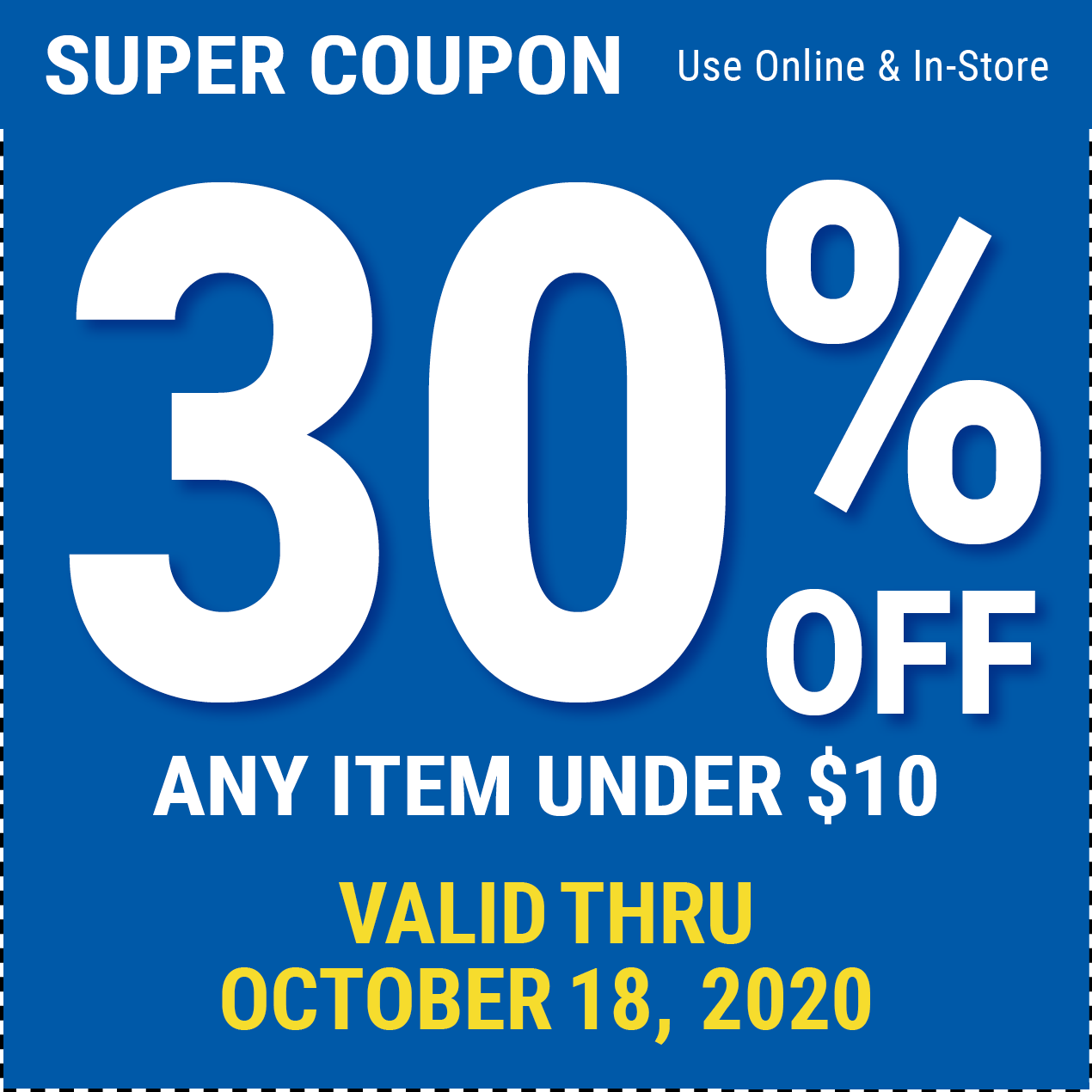 30 Off Items Under 10 Through October 18 2020 Harbor Freight Coupons