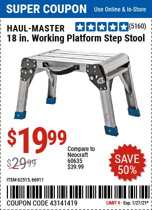 18 In Working Platform Step Stool