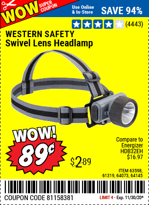 Swivel Lens LED Headlamp