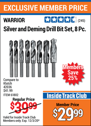 Silver And Deming Drill Bit Set 8 Pc.