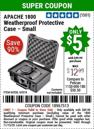 1800 Weatherproof Protective Case