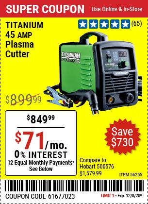 TITANIUM 45A Plasma Cutter for $849.99