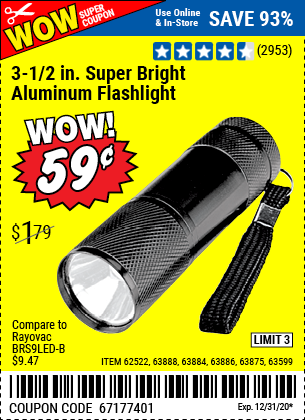 3 1 2 in LED Mini Flashlight
