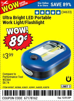 Ultra Bright LED Portable Worklight Flashlight