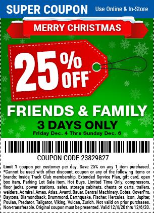 25 Percent Off Any Single Item Thru Sunday, December 6, 2020