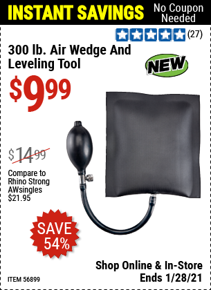 300 Lb. Air Wedge and Leveling Tool