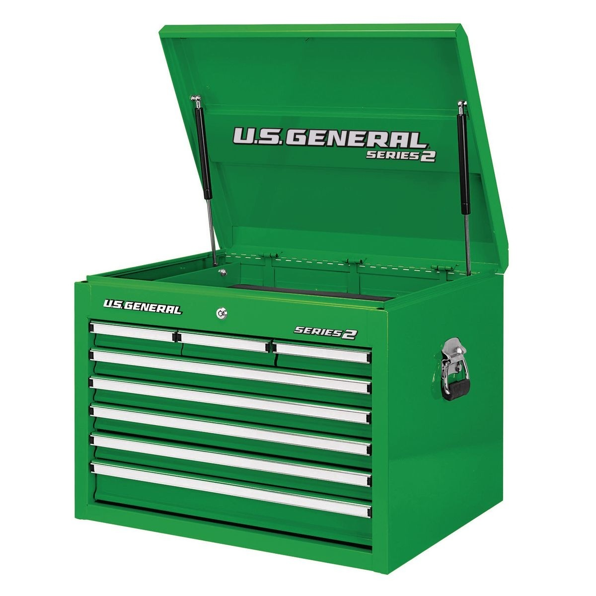 U.S. GENERAL 26 in. Single Bank Green Top Chest - Item 56231