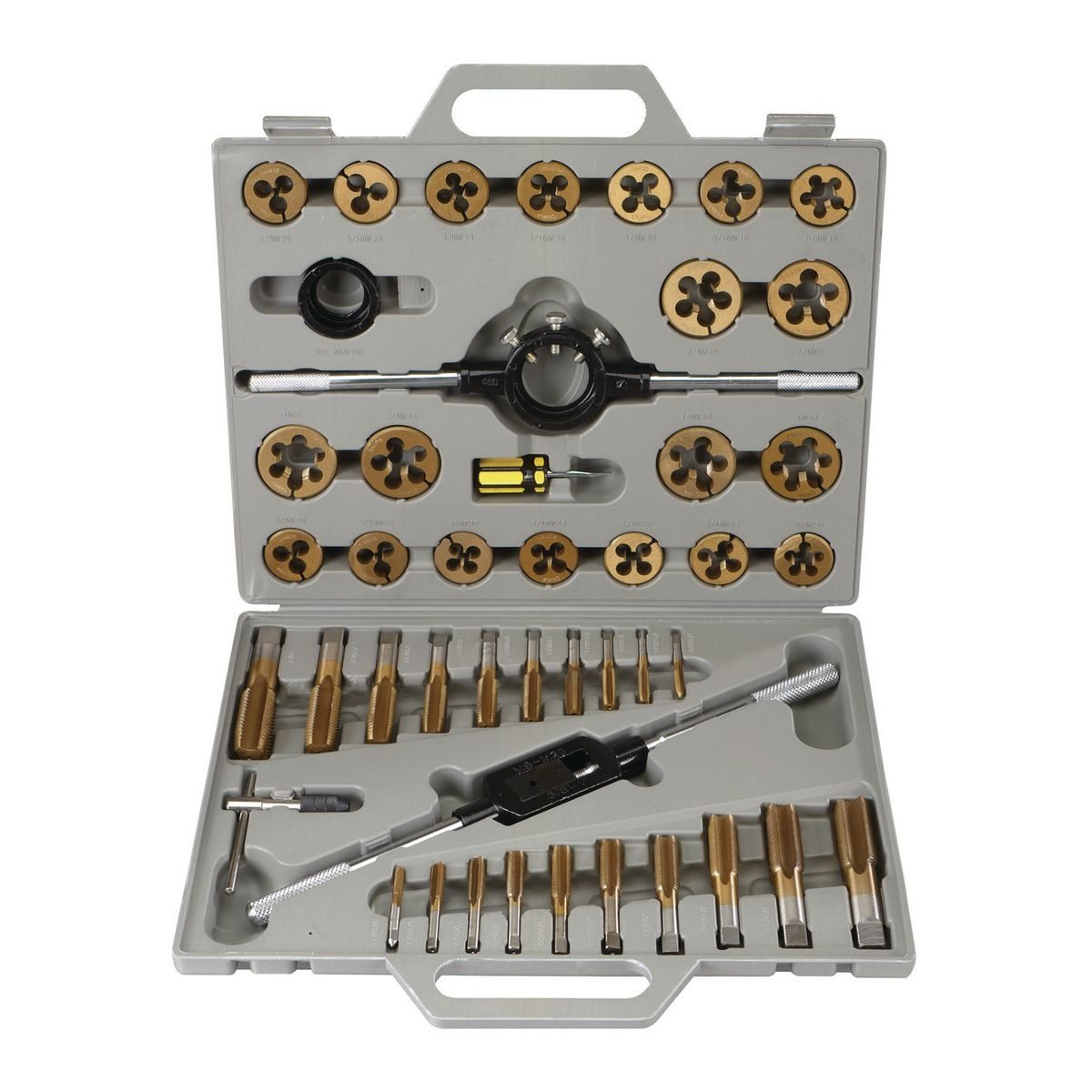PITTSBURGH Titanium Nitride Coated Alloy Steel SAE Tap & Die Set 45 Pc. - Item 61411 / 41451 / 60685