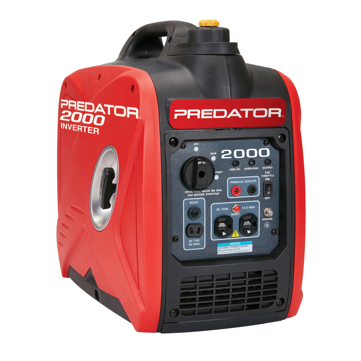 PREDATOR GENERATORS 2000 Watt Super Quiet Inverter Generator - Item 62523