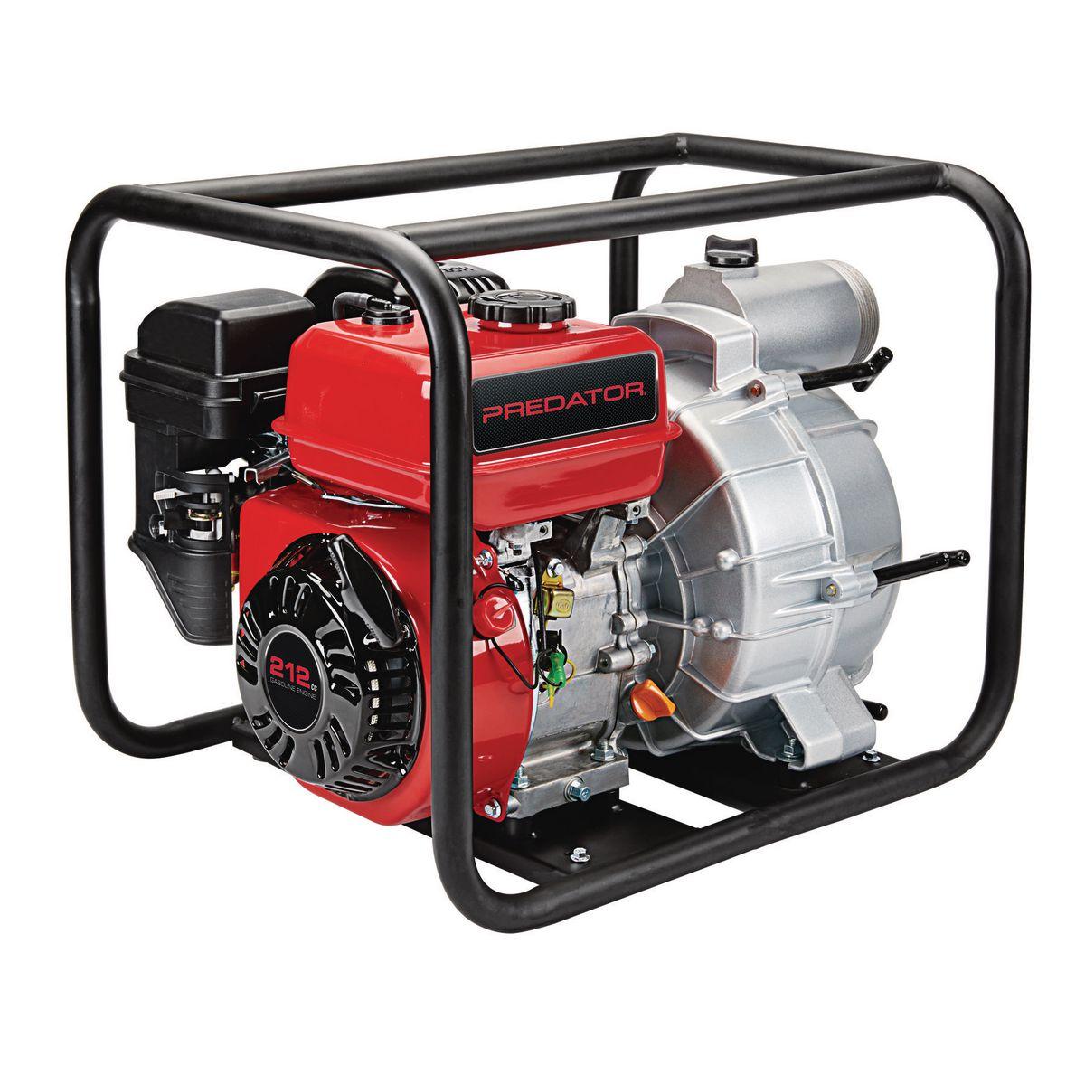 PREDATOR 3 in. 212cc Gasoline Engine Semi-Trash Water Pump - 290 GPM - Item 63406 / 56162