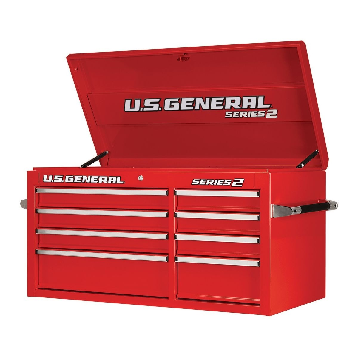 U.S. GENERAL 44 In. Double Bank Top Chest – Red – Item 64280 / 64158 / 64293