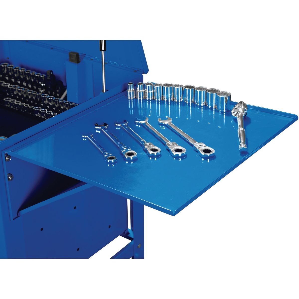 U.S. GENERAL Folding Side Tray for Blue Tool Cart - Item 64641