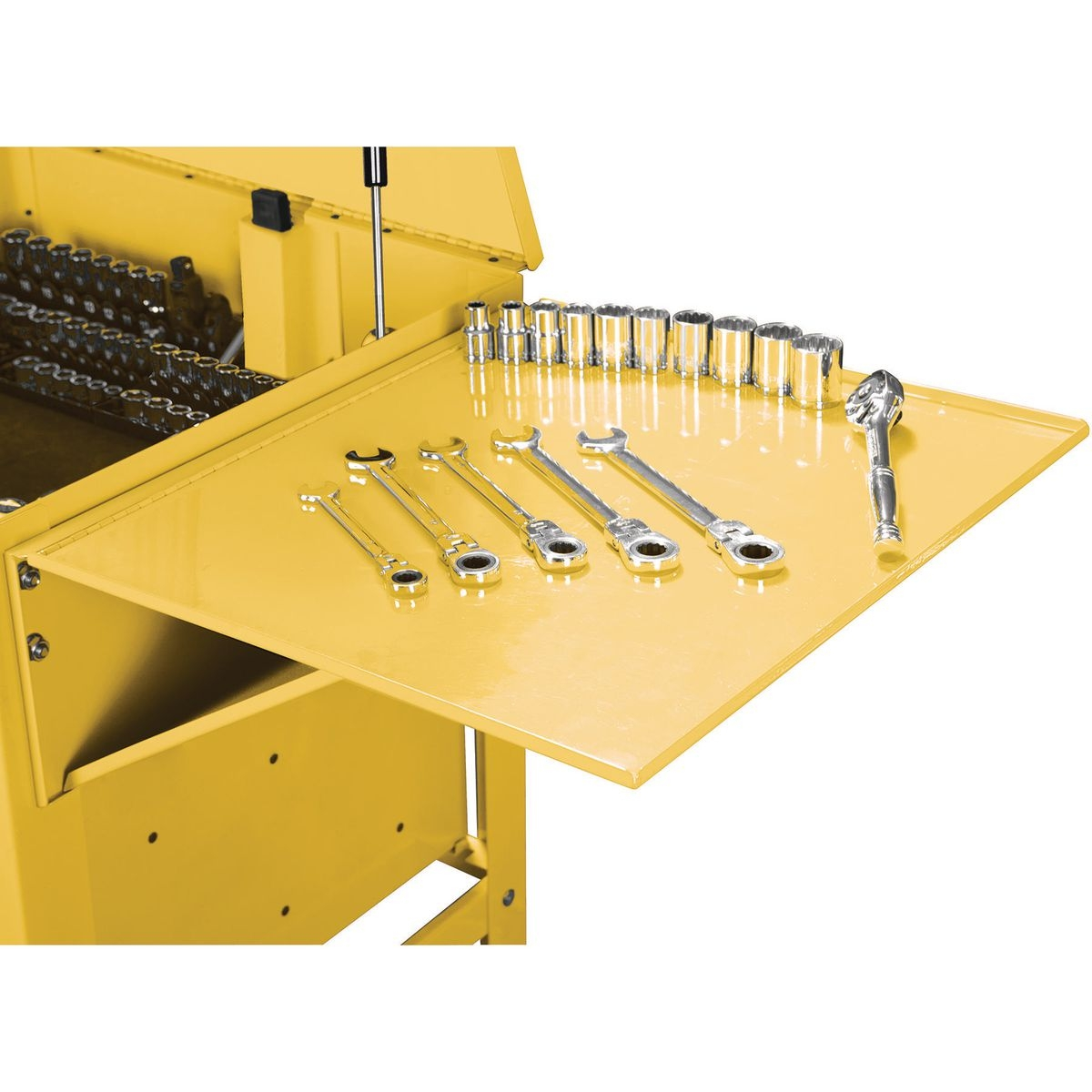 U.S. GENERAL Folding Side Tray for Yellow Tool Cart - Item 64724