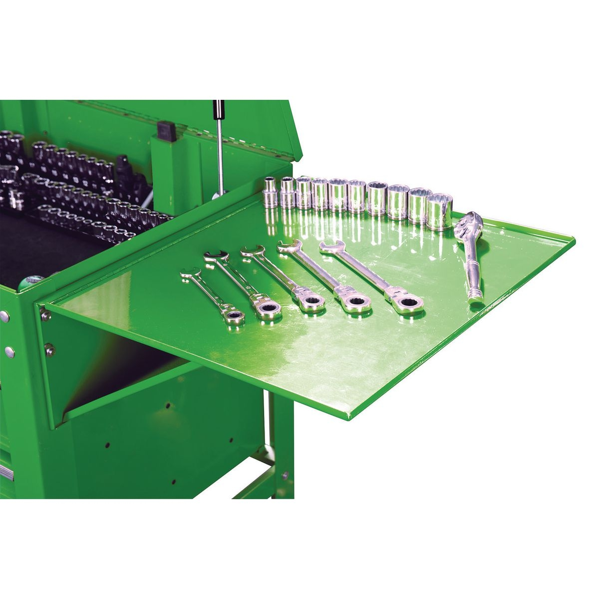 U.S. GENERAL Folding Side Tray for Green Tool Cart - Item 64725