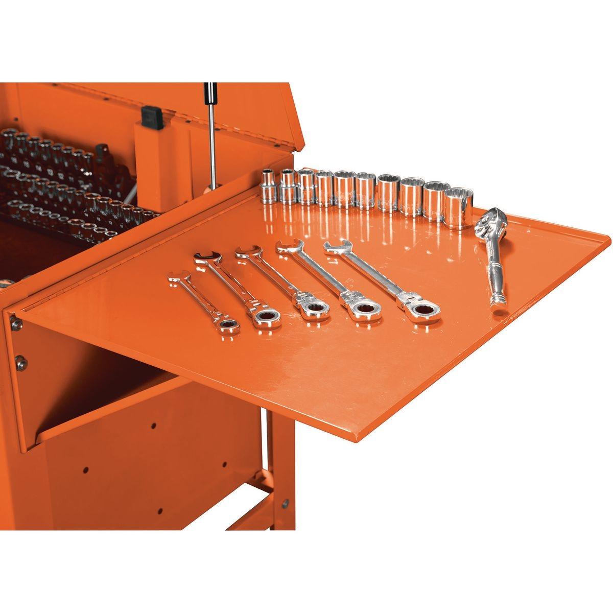 U.S. GENERAL Folding Side Tray for Orange Tool Cart - Item 64726