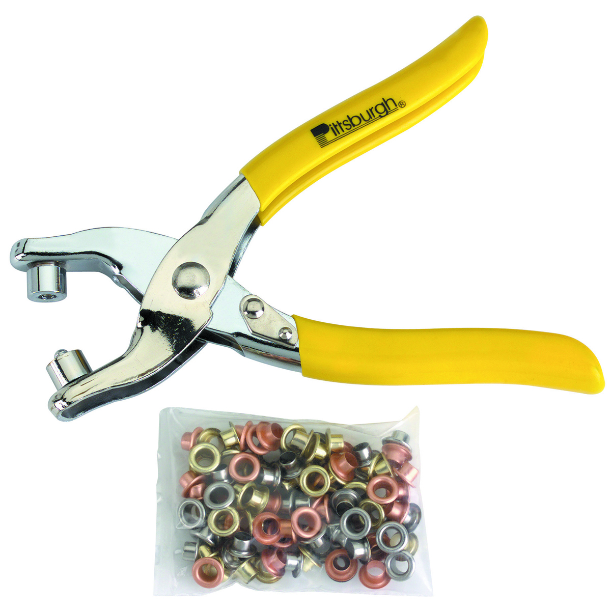 PITTSBURGH Grommet Pliers with 100 Grommets - Item 66707