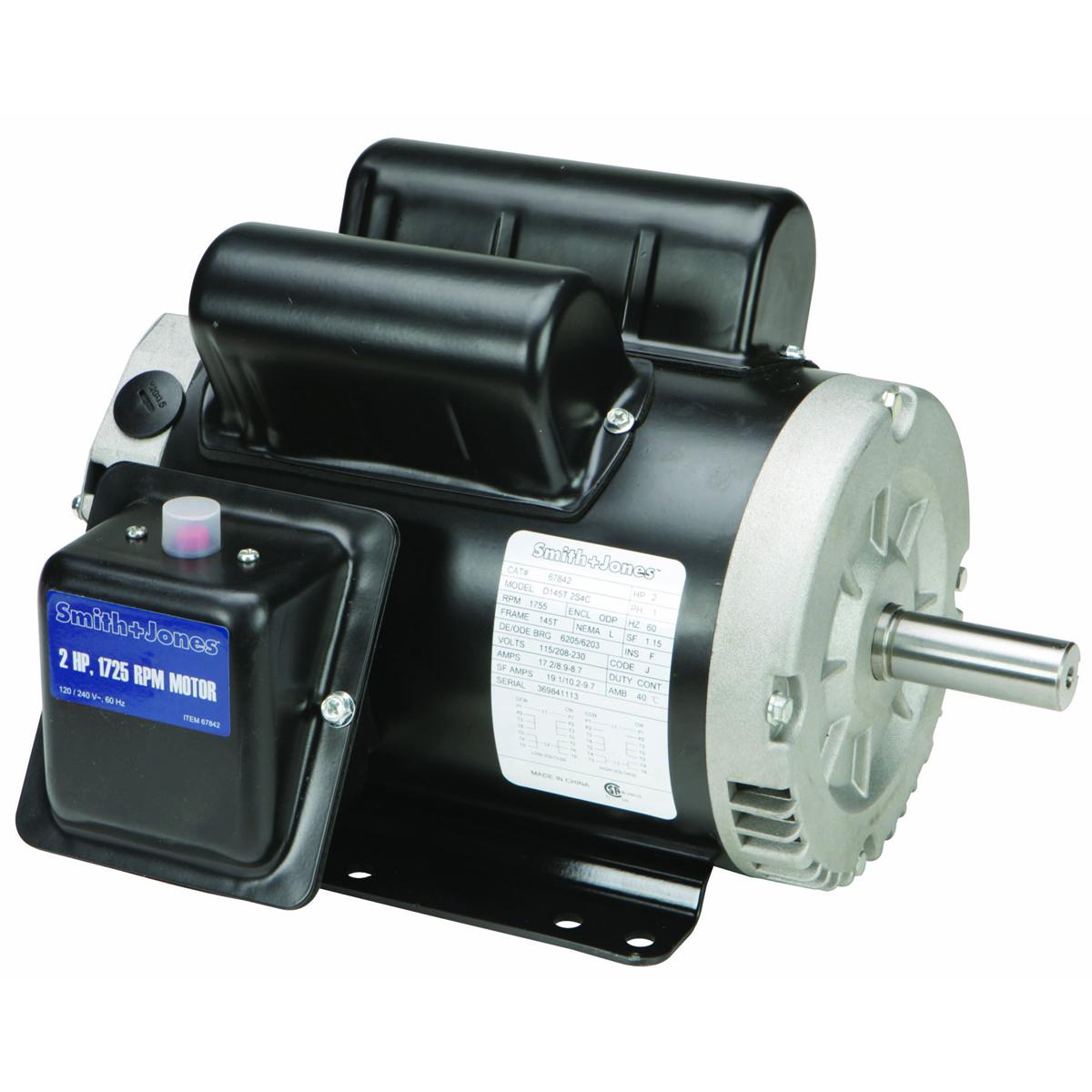 SMITH + JONES 2 HP Compressor Duty Motor - Item 67842