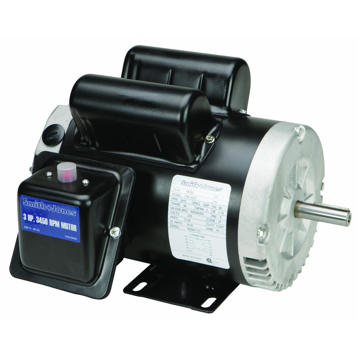 SMITH + JONES 3 HP Compressor Duty Motor - Item 68302