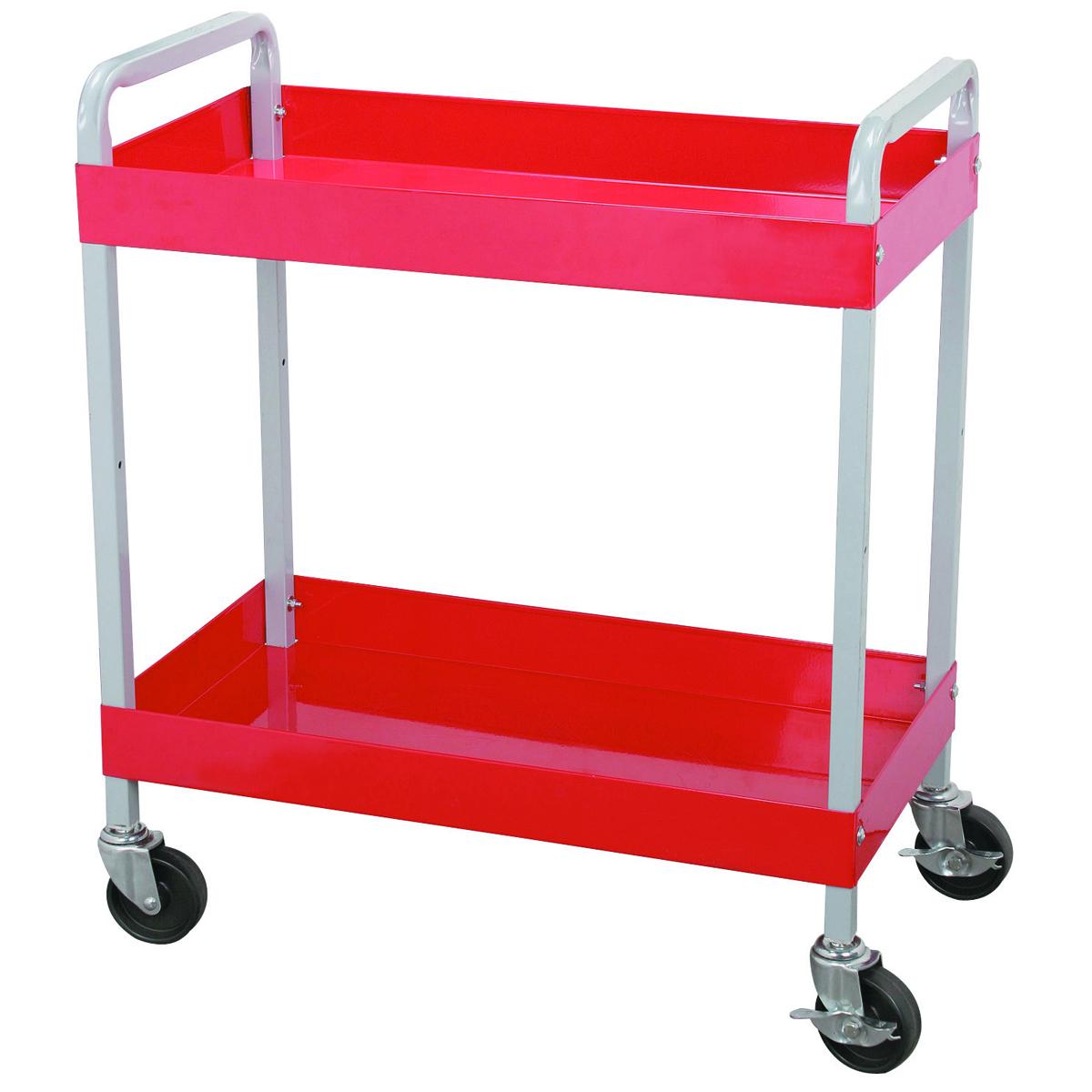 U.S. GENERAL 30 In. x 16 In. Two Shelf Steel Service Cart - Item 97541