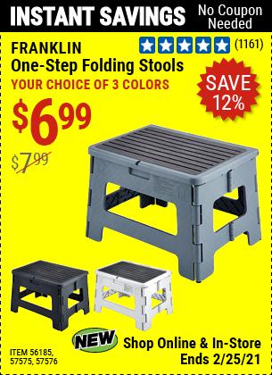 One-Step Folding Stool - Gray