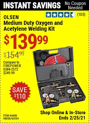 Medium Duty Oxygen and Acetylene Welding Kit