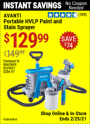 Portable HVLP Paint & Stain Sprayer