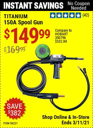 TITANIUM 150A Spool Gun for $149.99