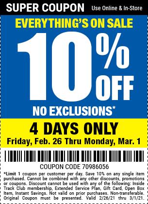 Everyone Saves 10 Percent thru March 1