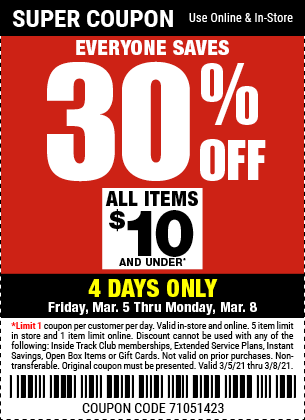 Everyone Saves 10 Percent thru March 1