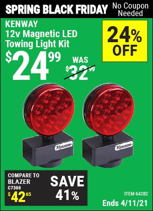 12V Magnetic LED Towing Light Kit